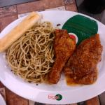 Italian Chicken with Spaghetti al Pesto