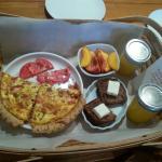 Breakfast delivered to our door!
