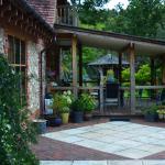 patio area of main house.