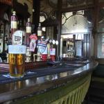 Tiled bar counter