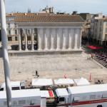 Vista da casa romana a partir do restaurante do museu