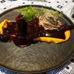 Pork Loin with Beet Sauce