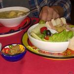 Leek/potato/courgette soup & Tavistock Beef sandwich