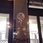 Colonna con lampada