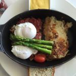 Perfect Corned Beef Hash with Poached Eggs.  PERFECT