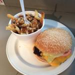1/2 Cheeseburger & Med. Poutine
