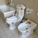 Ren Dollars stil på badeværelset
