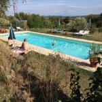 La grande piscine, belle détente après les excusions à Sienne