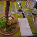 Brochette and Pizza