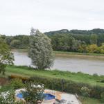 Vue sur la Garonne depuis la terrasse du Moulin