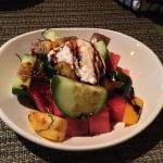 Individual Heirloom Tomato and Watermelon Salad