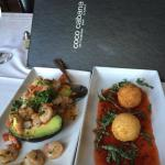AGUACATE RELLENO and BAKED GOAT CHEESE