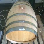 The Berliner Weiss aging in a wine barrel