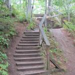 plenty of stairs from one viewpoint to the next