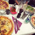 Different choices of pizza at pompei