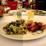 barbecued calamari & spinach & potato salad