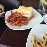 Lobster club w sweet potato fries