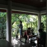 de gemeenschappelijke veranda midden in de jungle!
