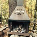 The patio fireplace -- great in cooler months
