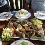 Skadar Lake fish platter