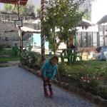 en el jardin del hotel