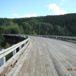 Historic Curved Wooden Bridge