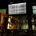 Beers on tap monitor. Very cool.