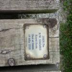 Plaque on boardwalk around Lochnagar Crater