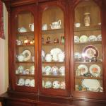 China cabinet in the dining room