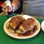 A Big Burger and Beer