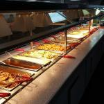 The buffet, a popular choice with diners