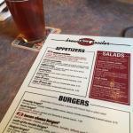 Owyhee Amber Ale and Brewski menu