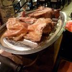 dos porciones de carne