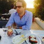 Wine tasting at sunset at Segalis Winery