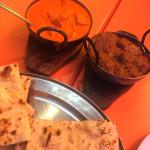Butter Chicken ad Punjabi Lamb Curry with Garlic Nans