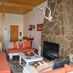 Kamin in der Drifters Desert Lodge