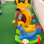 My son playing in the kids zone