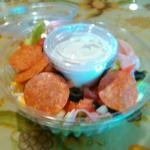 Chef salad at Downtown Deli, Ames
