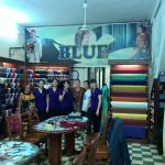 Blue Clothes Shop with Staff and Clients (us)