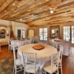 The rustic wedding hall can seat up to 60 people