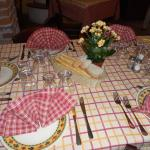 Il tavolo apparecchiato