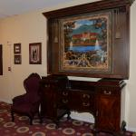 Historical artifacts and artwork near Teddy Roosevelt's room.