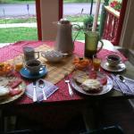A full breakfast of fine local foods.