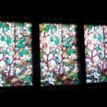 the stained glass window over our bed