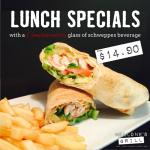 Lunch Friday to Sunday from 12midday