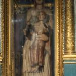 Statua ligna Madonna con Bambino