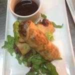 Asian style Pork belly & prawn  spring roll