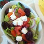 Gorgeous olives in a fresh salad