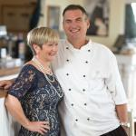 Proprietors James and Val Scowen welcome you to The Restaurant Beaucette Marina