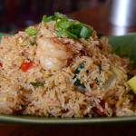 Chilli Basil Fried Rice with Prawns
